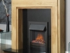 Oak Fireplace with Granite and Electric Fire