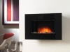 Hang on The Wall Black Glass Electric Fire