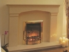 Trafford Fireplace marble Fireplace with inset electric fire