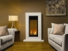 Gazco studio 22 balanced flue gas fire with lime stone fire surrond