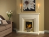 elgin and hall marble fireplace with living flame gas fire