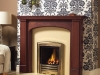 Fireplace with Mahogany mantle, Marble Set and Living Flame Gas fire