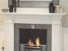 Large Carved Marble Fireplace with Polished Hob Insert for Gas Fires of Coal Fires