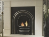 Fireplace with Limetone Mantel, Arched Casting. Suitable for Gas Fires, Electric Fires & Coal Fires
