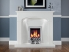 Elgin & Hall white marble fireplace with Living Flame Gas Fire