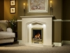 Elgin & Hall Manila Marble Fireplace with Living Flame Gas Fire