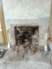 Knocking-out-to-make-Inglenook-for-Multi-Fuel-Stove