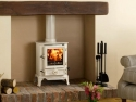 Stovax Brunel Multi Fuel Stove in Ivory Enamel