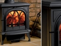 Stovax Huntingdon Cast Iron Multi Fuel Stove with Tracery Glass in Black
