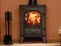 Stovax Stockton Multi Fuel Stove in Matt Black