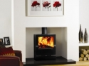 Stovax Black Glass Fronted and Topped Multi Fuel and Wood burning Stove