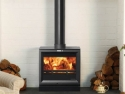 Large Stovax Black Glass Fronted Woodburning Stove