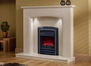 Elgin & Hall Elissa marble fireplace