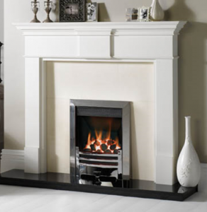 Logic Convector Gas fire with Chrome Arts Front and Frame