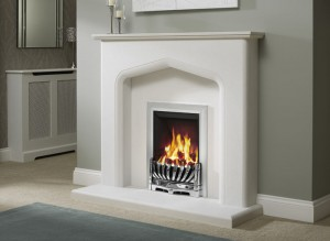 Elgin & Hall Savona marble fireplace