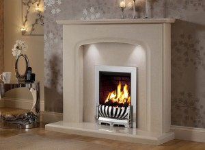 Elgin & Hall Siena marble fireplace