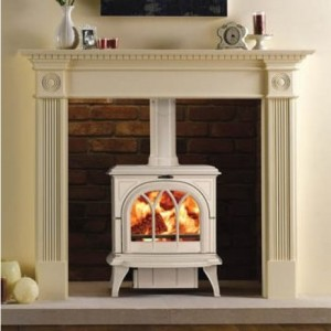 Huntingdon 30 Ivory Enamel Multi Fuel Stove