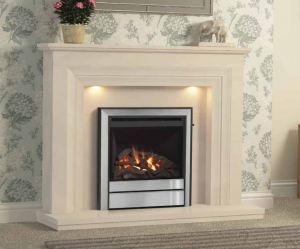 "Vitalia Marble Fireplace with 22"" Chollerton Gas Fire."